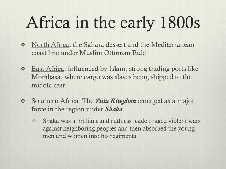 Africa in the early 1800s