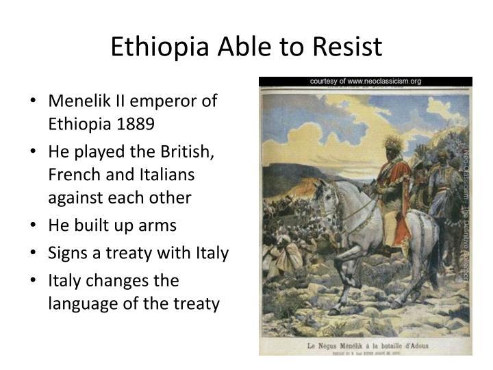 Ethiopia Able to Resist