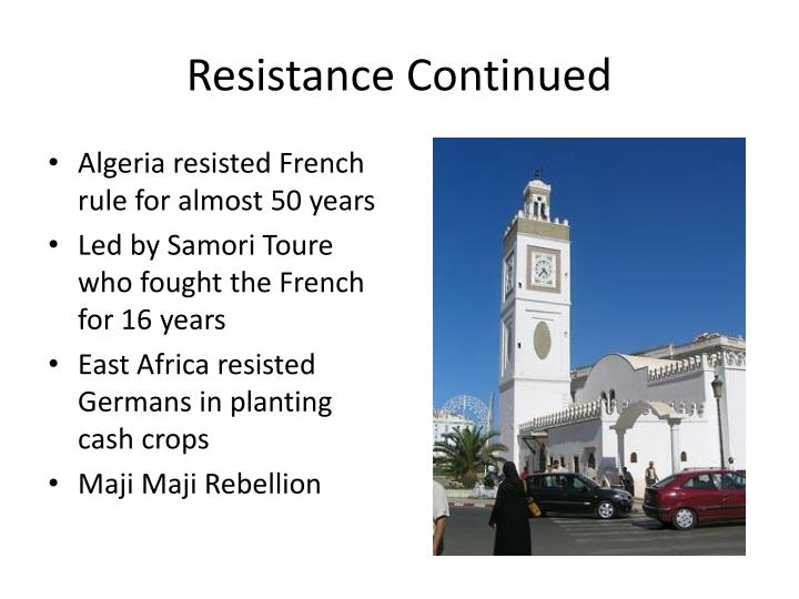 Resistance Continued