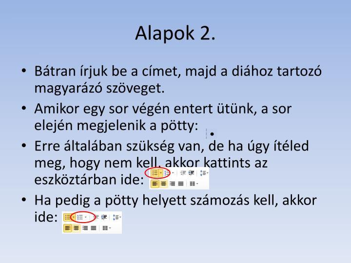 Alapok 2.