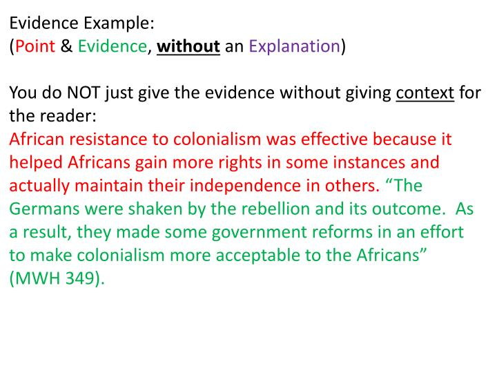 Evidence Example: