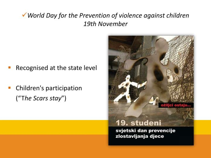 World Day for the Prevention of violence against children
