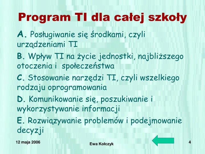 Program TI dla całej szkoły