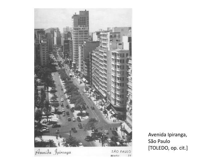 Avenida Ipiranga, São Paulo [TOLEDO, op. cit.]