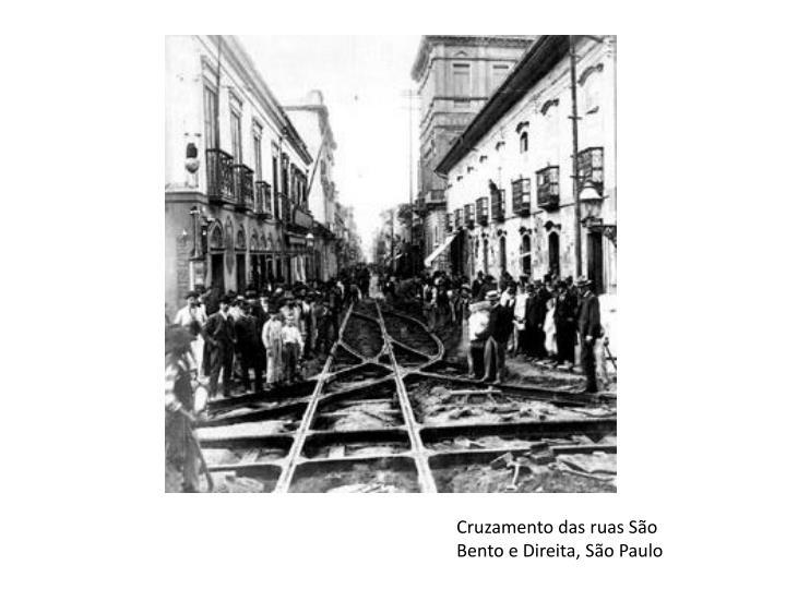 Cruzamento das ruas São Bento e Direita, São Paulo