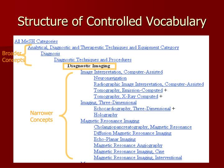Structure of Controlled Vocabulary