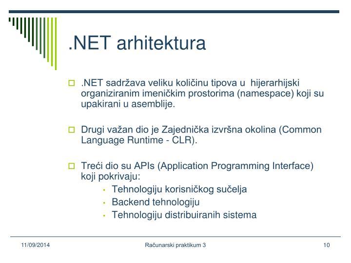 .NET arhitektura