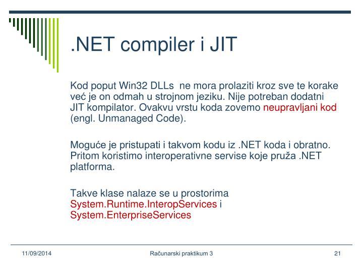 .NET compiler i JIT