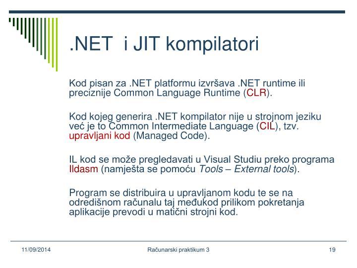.NET  i JIT kompilatori