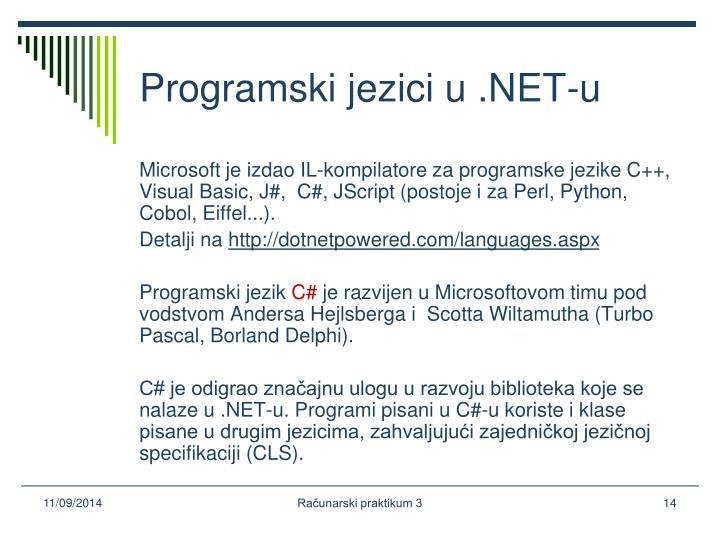 Programski jezici u .NET-u