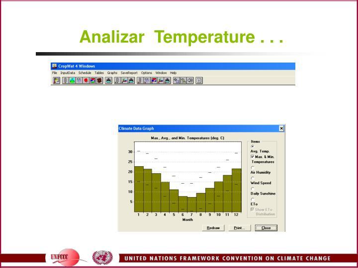 Analizar  Temperature . . .