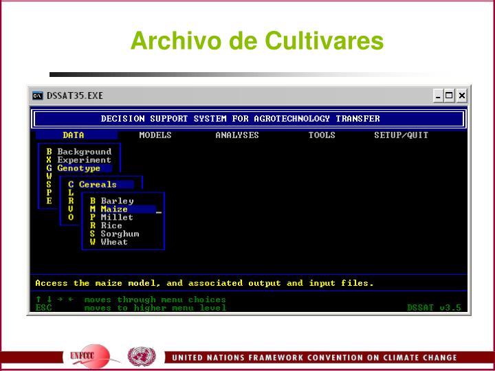 Archivo de Cultivares