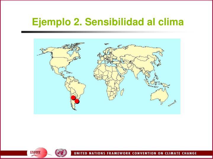 Ejemplo 2. Sensibilidad al clima