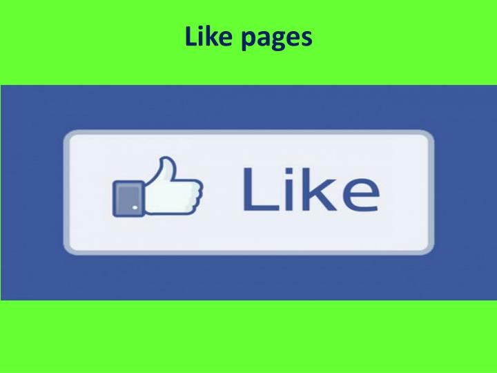 Like pages