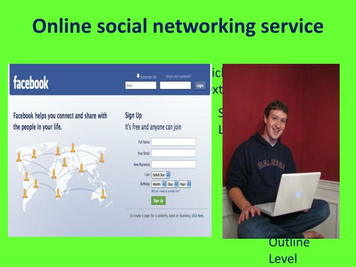 Online social networking service