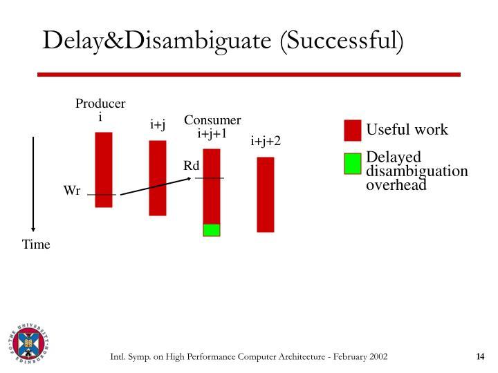 Delay&Disambiguate (Successful)