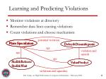 learning and predicting violations