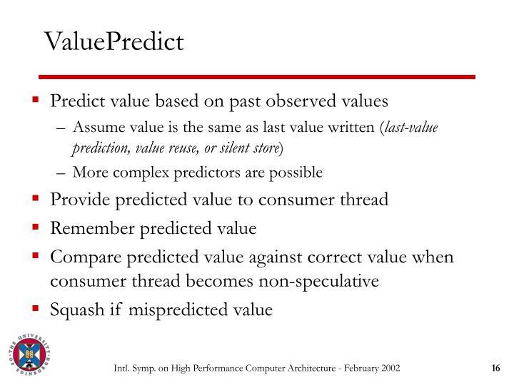ValuePredict