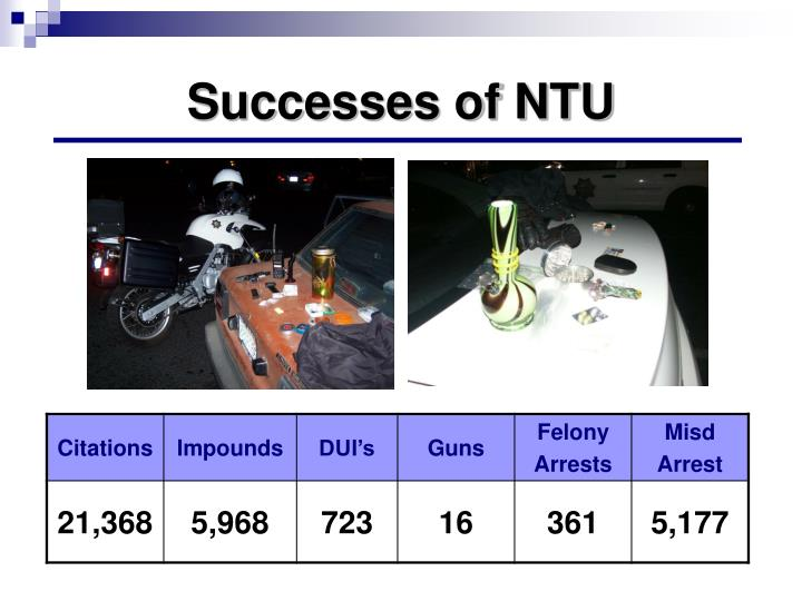 Successes of NTU
