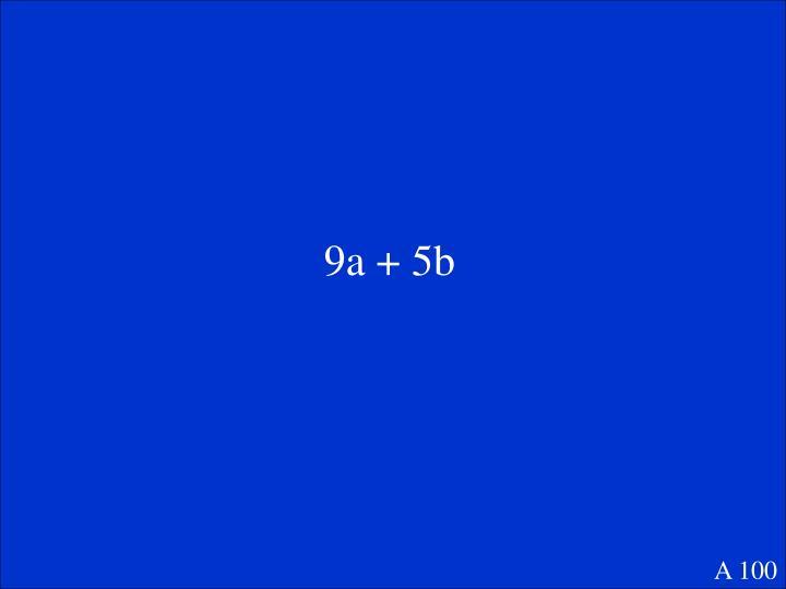 9a + 5b