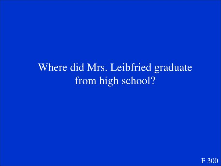 Where did