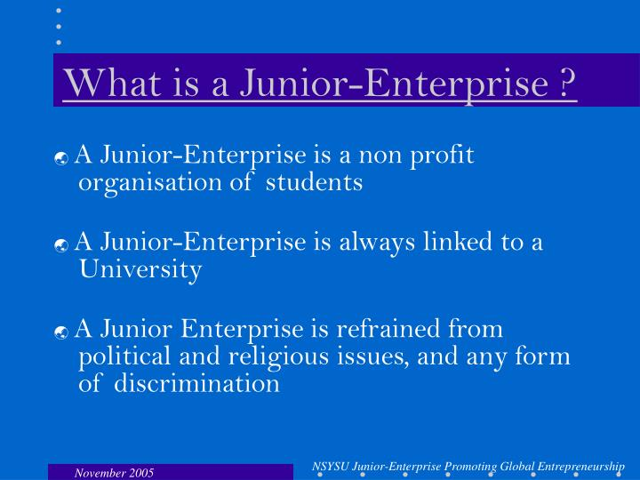 What is a junior enterprise
