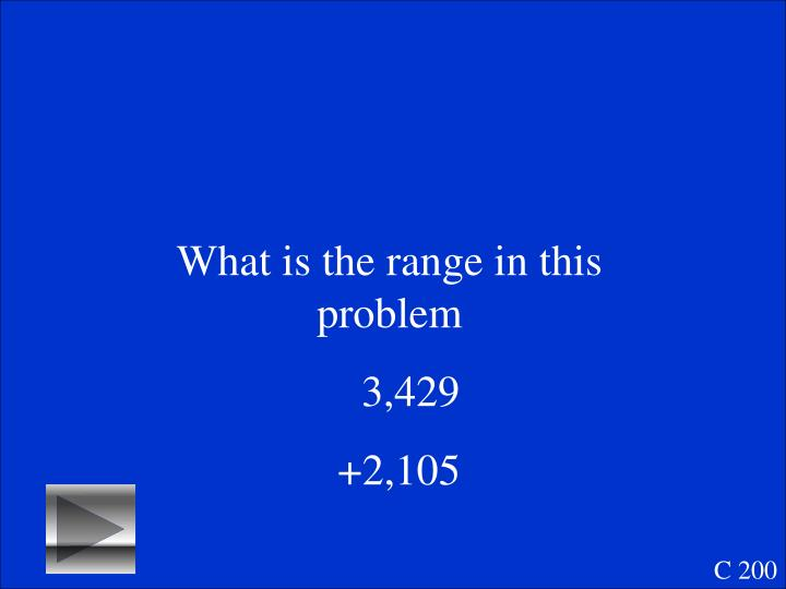 What is the range in this problem
