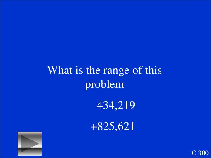 What is the range of this problem