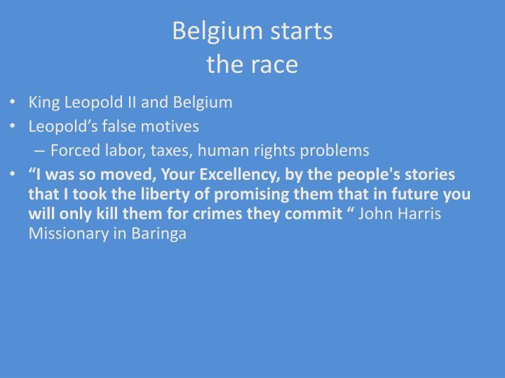 Belgium starts