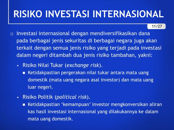 RISIKO INVESTASI INTERNASIONAL
