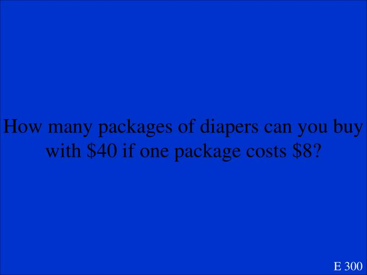 How many packages of diapers can you buy