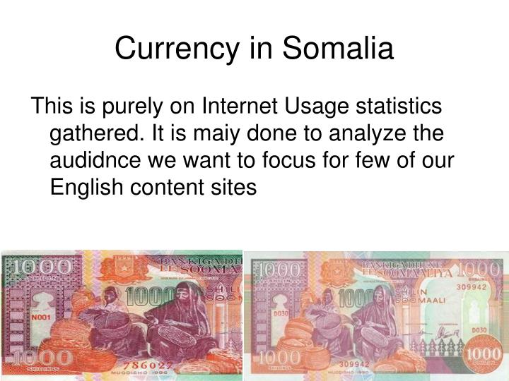 Currency in Somalia