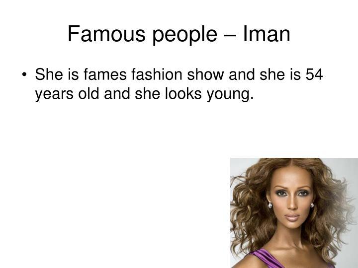 Famous people – Iman