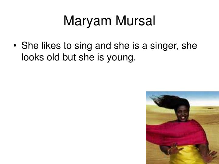 Maryam Mursal