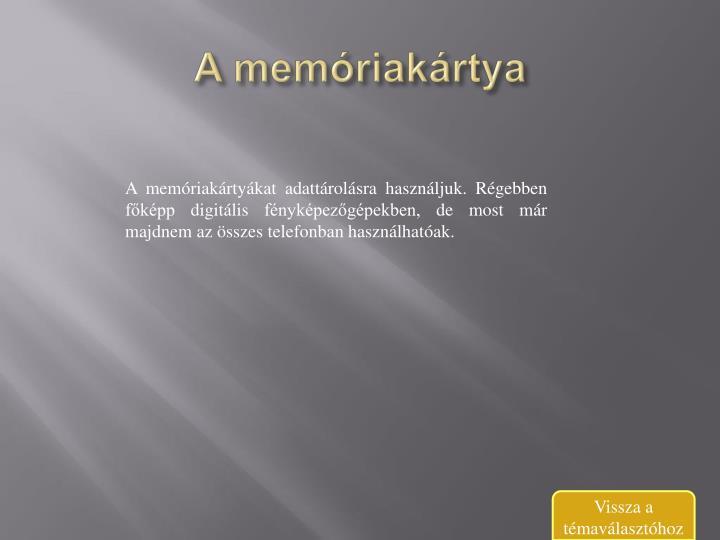 A memóriakártya