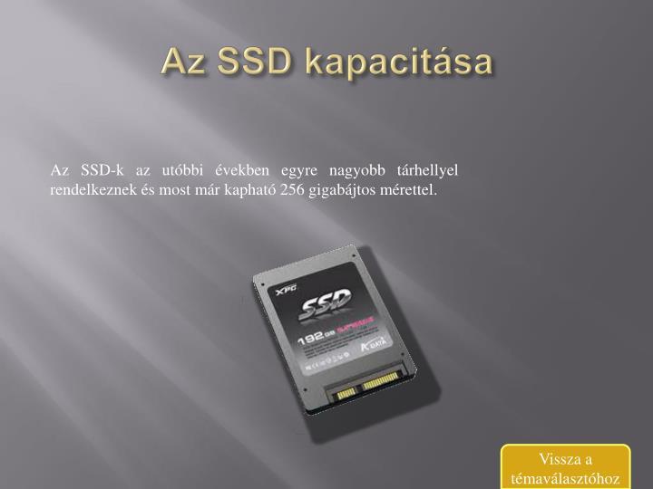 Az SSD kapacitása
