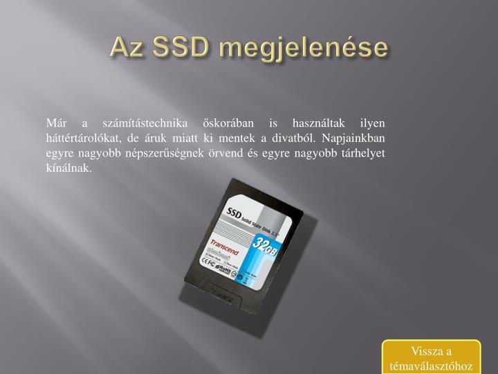 Az SSD megjelenése