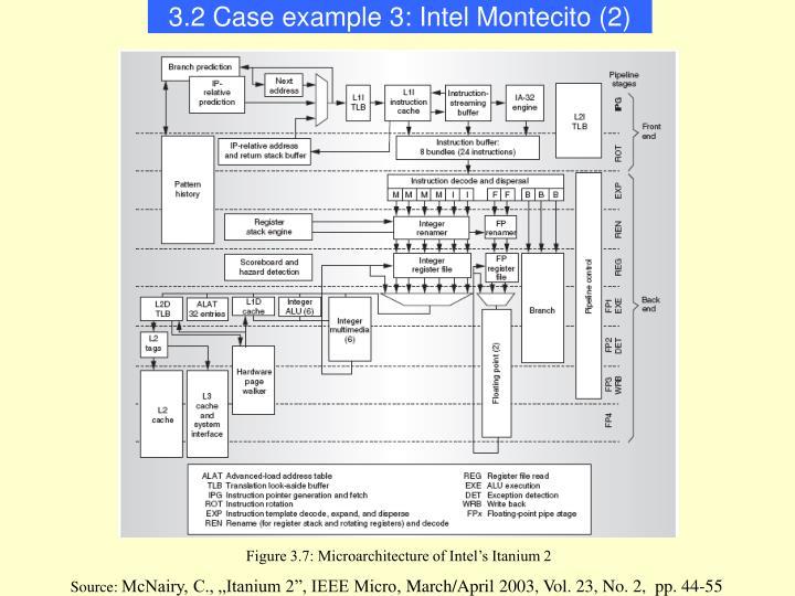 3.2 Case example 3: Intel Montecito (2)