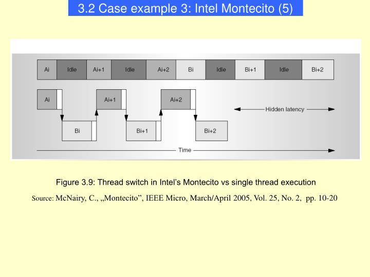 3.2 Case example 3: Intel Montecito (5)