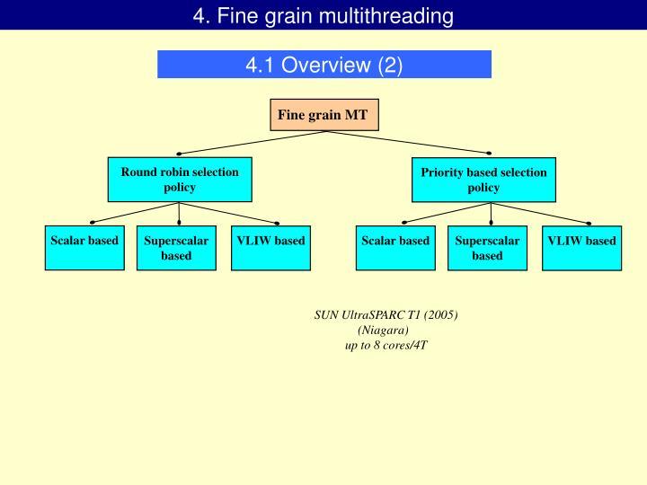 4. Fine grain multithreading