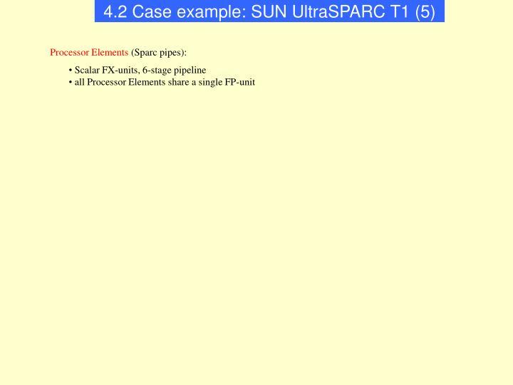 4.2 Case example: SUN UltraSPARC T1 (5)