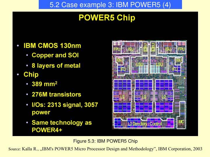 5.2 Case example 3: IBM POWER5 (4)
