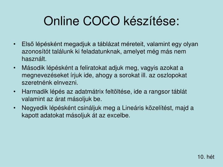 Online COCO készítése: