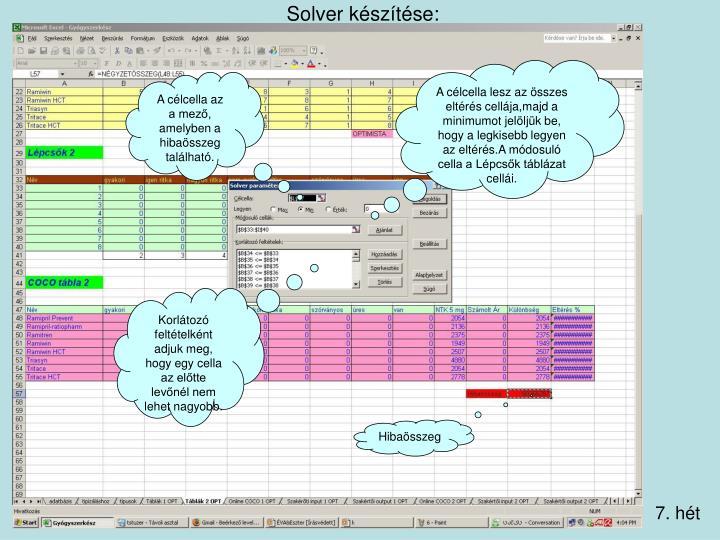 Solver készítése: