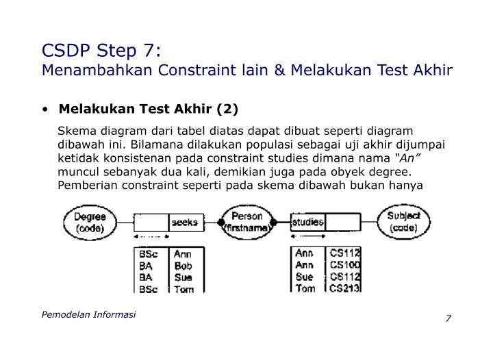 CSDP Step 7: