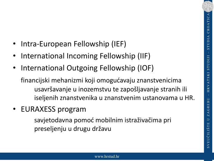 Intra-European Fellowship (IEF)