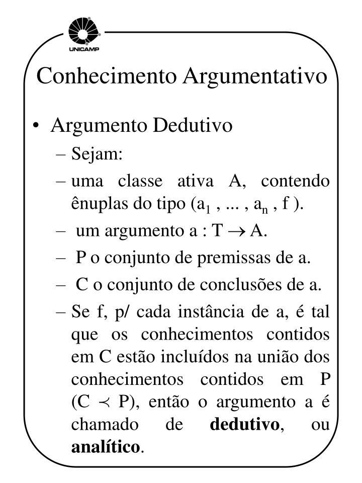 Conhecimento Argumentativo