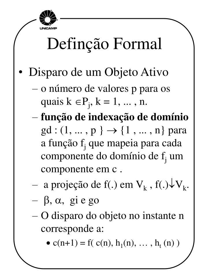 Definção Formal