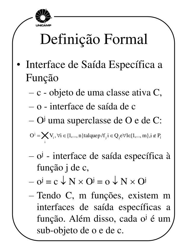 Definição Formal