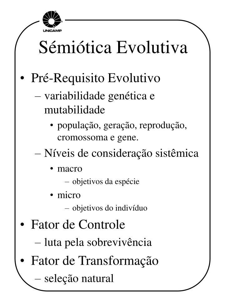 Sémiótica Evolutiva
